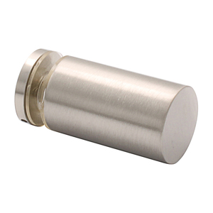 Brushed Nickel Cylinder Style Single-Sided Shower Door Knob