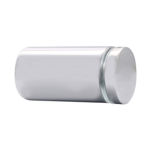 Polished Chrome Cylinder Style Single-Sided Shower Door Knob