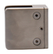 """CRL Z910BS Brushed Stainless Z-Series Square Type Flat Base Stainless Steel Clamp for 3/8"""" Glass"""
