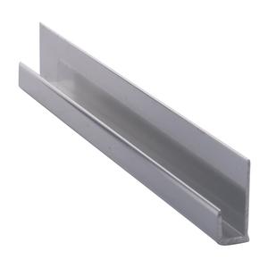 """CRL D3316BA Brite Anodized Aluminum 3/16"""" J-Channel - 144"""" Stock Length"""