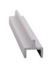 "CRL D601A Satin Anodized Aluminum Single Bottom Rail - 144"" Stock Length"