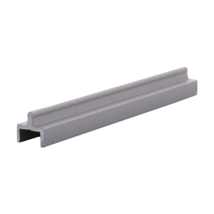 CRL D601A Satin Anodized Aluminum Single Bottom Rail
