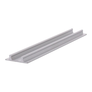 """CRL D602A Satin Anodized Aluminum Lower Channel for Deep Recess Installations - 144"""" Stock Length"""