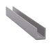"CRL D631A Satin Anodized 1/4"" Single Aluminum U-Channel - 144"" Stock Length"
