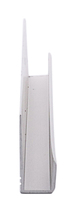 "CRL D636A Satin Anodized 1/4"" Standard Aluminum J-Channel - 144"" Stock Length"