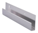"CRL D645BA Brite Anodized 1/4"" Deep Nose Aluminum J-Channel - 144"" Stock Length"