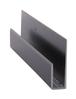 """CRL D645BL Black Electro-Static Paint 1/4"""" Deep Nose Aluminum J-Channel - 144"""" Stock Length"""