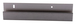 "CRL D645BN Brushed Nickel 1/4"" Deep Nose Aluminum J-Channel - 144"" Stock Length"