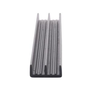 """CRL D708GRY Gray Plastic Lower Track for 1/8"""" Sliding Panels"""