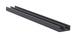 """CRL D708GRY Gray Plastic Lower Track for 1/8"""" Sliding Panels - 144"""" Stock Length"""