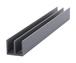 """CRL D718GRY Gray Upper Plastic Track for 1/8"""" Sliding Panels - 144"""" Stock Length"""