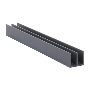 "CRL D718GRY Gray Upper Plastic Track for 1/8"" Sliding Panels"