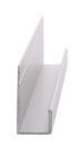 "CRL D738A Satin Anodized Standard Aluminum 3/8"" J-Channel - 144"" Stock Length"
