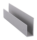 "CRL D838A Satin Anodized Aluminum Deep Nose 3/8"" J-Channel - 144"" Stock Length"