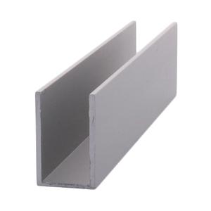 "CRL DV750A Satin Anodized 1/2"" Aluminum U-Channel"
