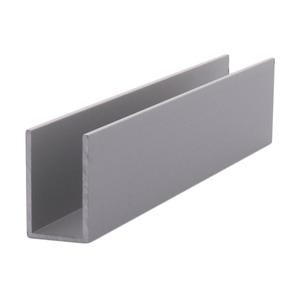 "CRL DV750A Satin Anodized 1/2"" Aluminum U-Channel - 144"" Stock Length"