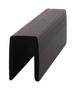 "CRL GR5PV Black Rigid 1/2"" U-Channel Cap Rail Vinyl - 120"" Stock Length"