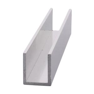 "CRL SDCD12BA Brite Anodized 1/2"" Fixed Panel Shower Door Deep U-Channel - 95"""