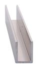 """CRL SDCD38BN Brushed Nickel 3/8"""" Fixed Panel Shower Door Deep U-Channel - 95"""" Stock Length"""