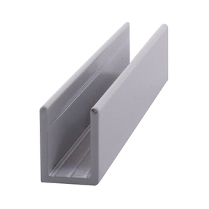 "CRL SDCD38W White 3/8"" Fixed Panel Shower Door Deep U-Channel - 95"" Stock Length"