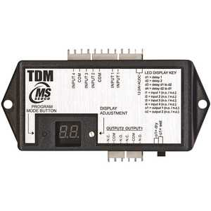 MS Sedco TDM SEDCO Commander Black Lexan Time Delay Module, 2 Outputs with up to 4 Inputs, Time Delay 0-Seconds to 99 Seconds