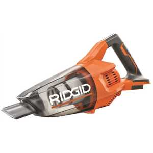 Techtronic Industries Co. R860902B RIDGID 18-Volt Cordless Hand Vacuum (Tool-Only) with Crevice Nozzle, Utility Nozzle and Extension Tube