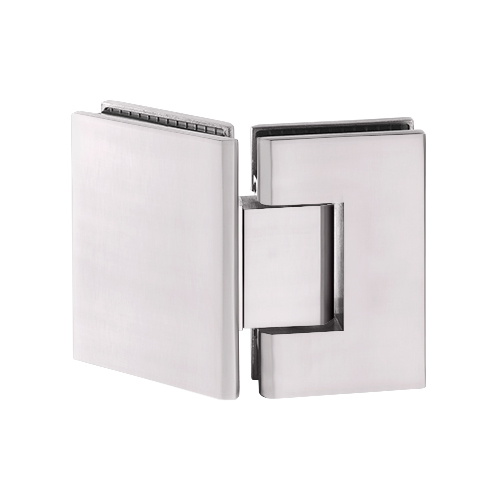 Brixwell H-MGTW-CB Maxum Series Glass To Wall Mount Shower Door Hinge With Short Back Plate Polished Chrome W//Brass Accents