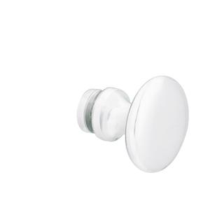 Brixwell KTSMW Traditional Series Glass Shower Door Knob Single Mount Gloss White
