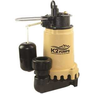 K2 SPI07502K 3/4 HP Submersible Sump Pump with Snap Action Switch