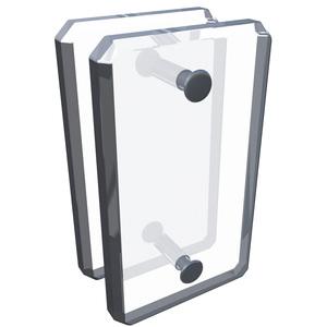 CRL AMC180 Clear Acrylic 180 Mall Glass Clamp