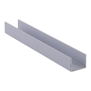 """CRL 3601W White Series 3601 Side Jamb Channel - 144"""" Stock Length"""