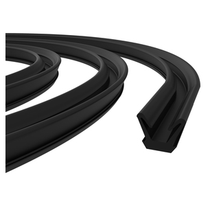 "CRL AS126896 96"" Flexible Flocked Rubber Glass Run Channel for 1963-1966 Valiant and Dart"