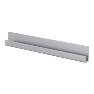 "CRL D3316A Satin Anodized Aluminum 3/16"" J-Channel - 144"" Stock Length"