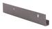 "CRL D636BN Brushed Nickel 1/4"" Standard Aluminum ""J"" Channel - 144"" Stock Length"