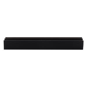 """CRL D712BL Black Upper Plastic Track for 1/4"""" Sliding Panels"""