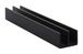 """CRL D712BL Black Upper Plastic Track for 1/4"""" Sliding Panels - 144"""" Stock Length"""