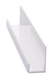 """CRL D12BA Brite Anodized Aluminum 1/2"""" J-Channel - 144"""" Stock Length"""