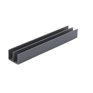 """CRL D712GRY Gray Upper Plastic Track for 1/4"""" Sliding Panels - 144"""" Stock Length"""