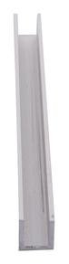 "CRL DV746A Satin Anodized 1/4"" Aluminum U-Channel - 144"" Stock Length"