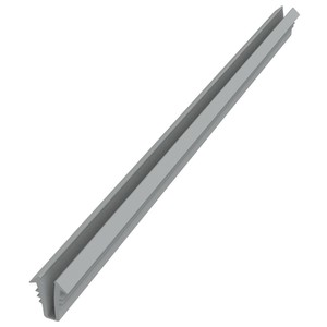 """Gray Glazing Vinyl 9/32"""" Channel Depth 1/4"""" to 19/64"""" Metal Opening - 100' Roll"""