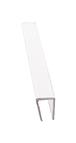 "CRL D720 Clear 1/4"" Plastic Edge Molding - 144"" Stock Length"