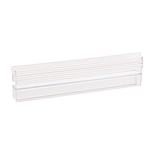 "CRL P180SDJ Polycarbonate Strike and Door H-Jamb with Vinyl Insert 180 Degree for 3/8"" Glass - 95"" Stock Length"