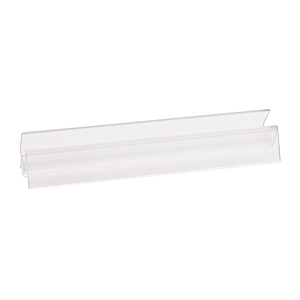 "CRL P912WS Clear Co-Extruded Bottom Wipe With Drip Rail for 1/2"" Glass - 95"" Stock Length"