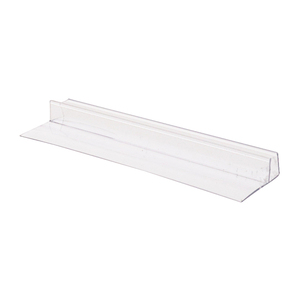 "CRL PC0890 5/16"" Polycarbonate 'U' with 90 Degree Vinyl Finseal"
