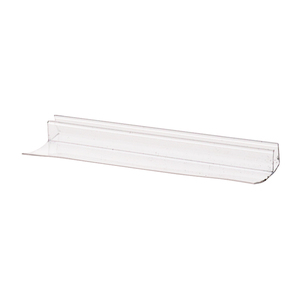 "CRL PCSER78 95"" Clear Poly U-Channel with 1-1/8"" (28.5 mm) Fin for 3/8"" Glass"