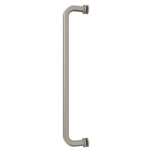 "CRL BM24BN Brushed Nickel 24"" BM Series Tubular Single-Sided Towel Bar"