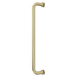 "CRL BM24BR Polished Brass 24"" BM Series Tubular Single-Sided Towel Bar"