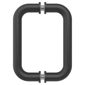"Matte Black 6"" BM Series Tubular Back-to-Back Pull Handle"