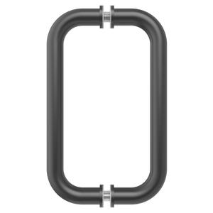 "CRL BM8X8MBL Matte Black 8"" BM Series Tubular Back-to-Back Pull Handle"