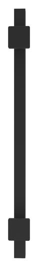 "CRL GBD18MBL Matte Black Straight 18"" Square Grab Bar"